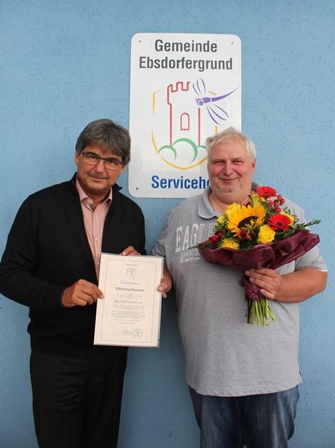 Bürgermeister Andreas Schulz und Matthias Hentschel