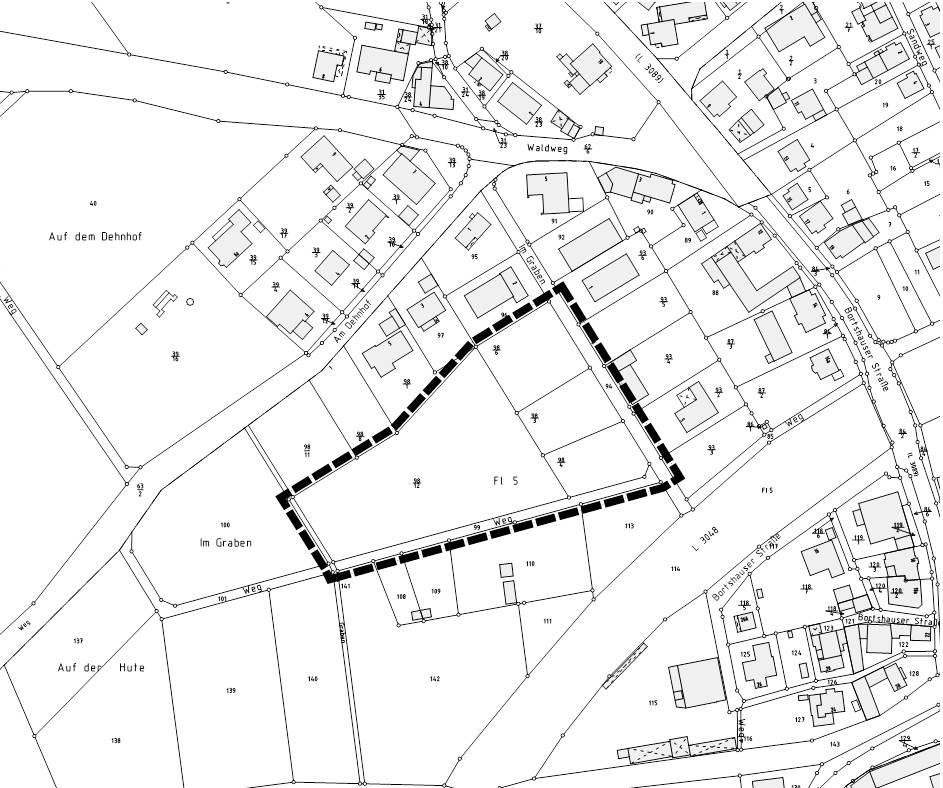"""Übersichtskarte Plangebiet: Vorhabenbezogener Bebauungsplan """"Frohwein-Büchner"""""""