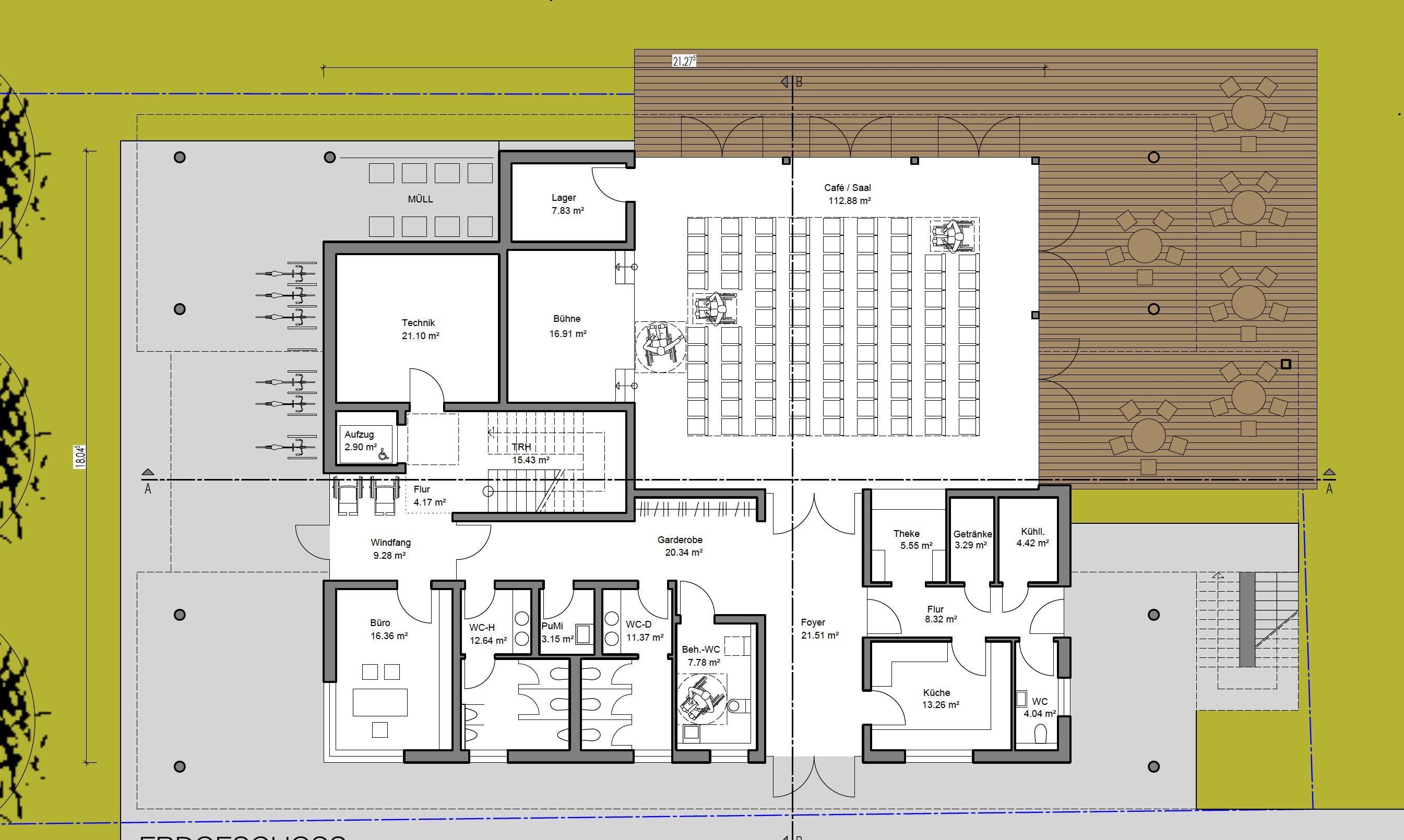 Multifunktionshaus - Plan