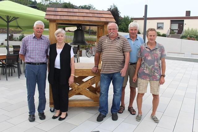 v.l.n.r.: Hans-Werner Sauer, Elfriede Staubitz-Hagemann, Gotthard Debelius, Georg Sauer, Reinhard Claar
