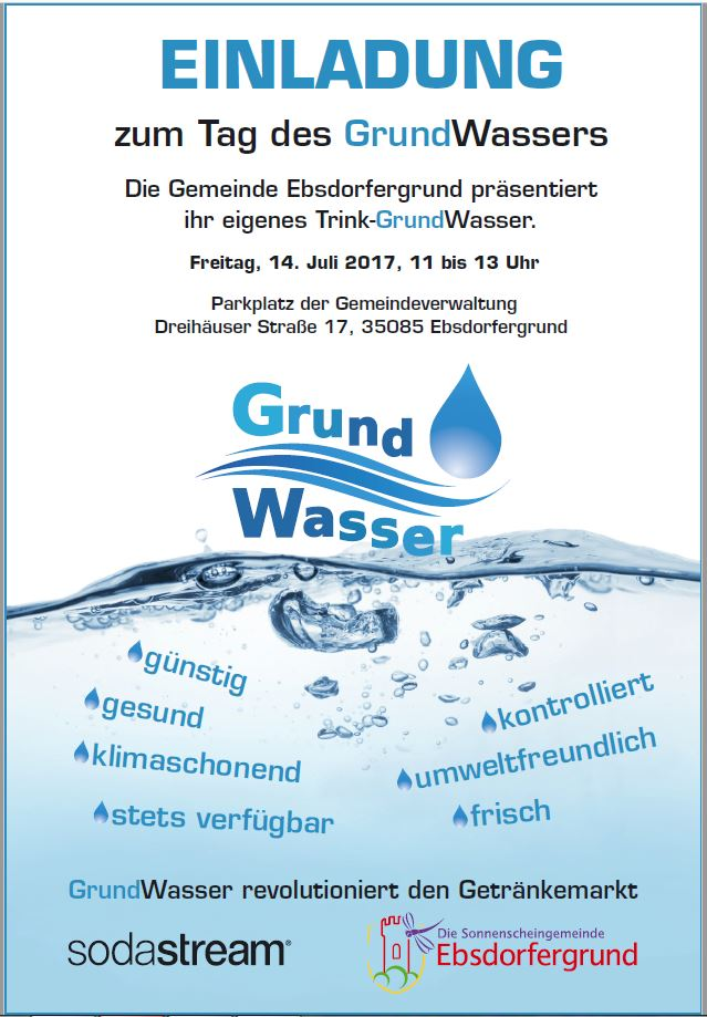 Plakat Tag des Grundwassers
